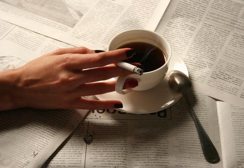 Can You Smoke And Drink Coffee While Still Holding The Pen In Your Hand?